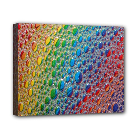 Bubbles Rainbow Colourful Colors Canvas 10  X 8