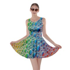 Bubbles Rainbow Colourful Colors Skater Dress