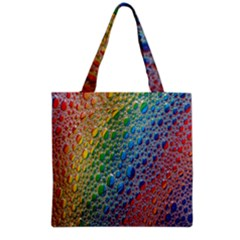 Bubbles Rainbow Colourful Colors Grocery Tote Bag