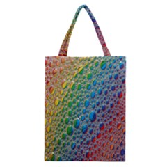 Bubbles Rainbow Colourful Colors Classic Tote Bag