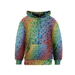 Bubbles Rainbow Colourful Colors Kids  Zipper Hoodie