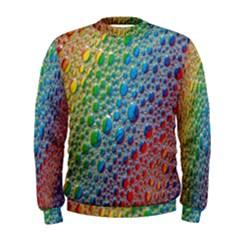 Bubbles Rainbow Colourful Colors Men s Sweatshirt