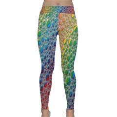 Bubbles Rainbow Colourful Colors Classic Yoga Leggings