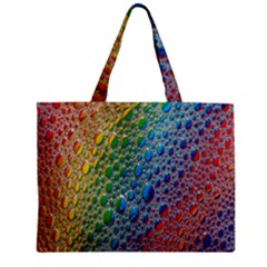 Bubbles Rainbow Colourful Colors Zipper Mini Tote Bag