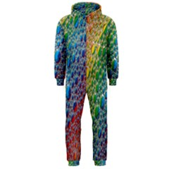 Bubbles Rainbow Colourful Colors Hooded Jumpsuit (men)