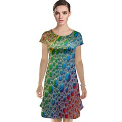 Bubbles Rainbow Colourful Colors Cap Sleeve Nightdress