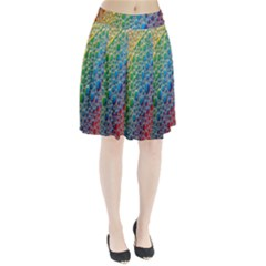 Bubbles Rainbow Colourful Colors Pleated Skirt
