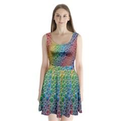 Bubbles Rainbow Colourful Colors Split Back Mini Dress