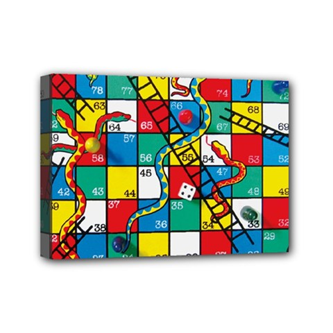Snakes And Ladders Mini Canvas 7  X 5