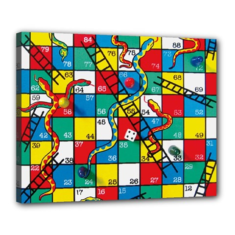 Snakes And Ladders Canvas 20  X 16