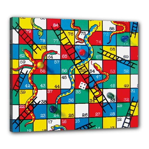 Snakes And Ladders Canvas 24  x 20