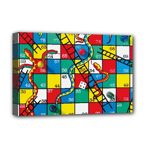 Snakes And Ladders Deluxe Canvas 18  X 12