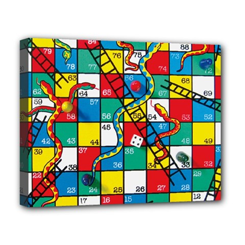 Snakes And Ladders Deluxe Canvas 20  x 16