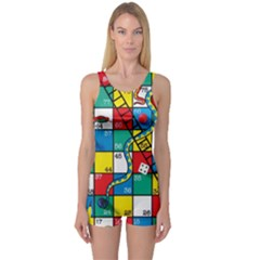Snakes And Ladders One Piece Boyleg Swimsuit