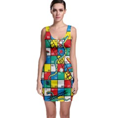 Snakes And Ladders Sleeveless Bodycon Dress