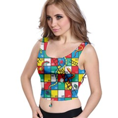 Snakes And Ladders Crop Top