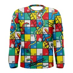 Snakes And Ladders Men s Long Sleeve Tee