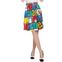 Snakes And Ladders A Line Skirt