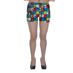 Snakes And Ladders Skinny Shorts