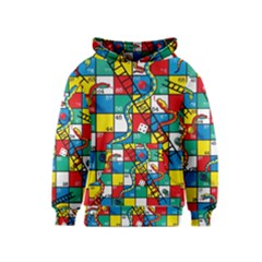 Snakes And Ladders Kids  Pullover Hoodie