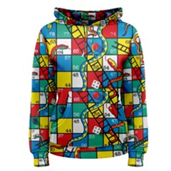 Snakes And Ladders Women s Pullover Hoodie