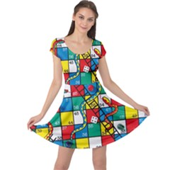 Snakes And Ladders Cap Sleeve Dresses
