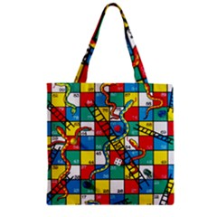 Snakes And Ladders Zipper Grocery Tote Bag