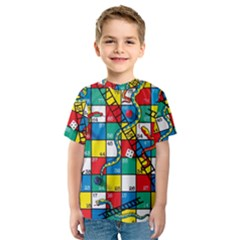 Snakes And Ladders Kids  Sport Mesh Tee
