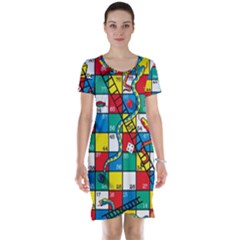 Snakes And Ladders Short Sleeve Nightdress