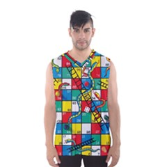 Snakes And Ladders Men s Basketball Tank Top