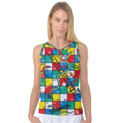 Snakes And Ladders Women s Basketball Tank Top