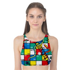 Snakes And Ladders Tank Bikini Top