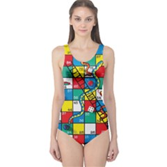 Snakes And Ladders One Piece Swimsuit