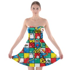 Snakes And Ladders Strapless Bra Top Dress