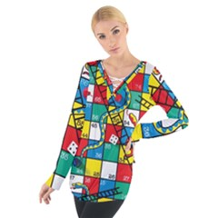 Snakes And Ladders Women s Tie Up Tee