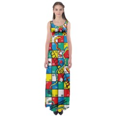 Snakes And Ladders Empire Waist Maxi Dress