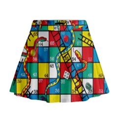 Snakes And Ladders Mini Flare Skirt