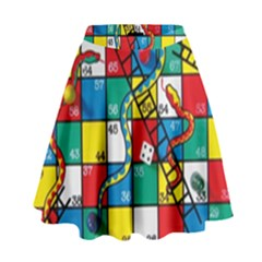 Snakes And Ladders High Waist Skirt