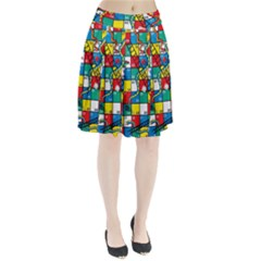 Snakes And Ladders Pleated Skirt