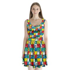 Snakes And Ladders Split Back Mini Dress