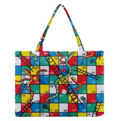 Snakes And Ladders Medium Zipper Tote Bag