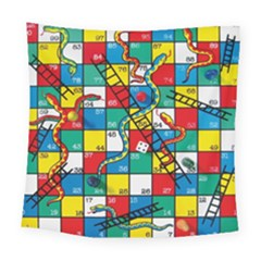 Snakes And Ladders Square Tapestry (large)