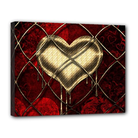 Love Hearth Background Scrapbooking Paper Canvas 14  x 11