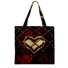 Love Hearth Background Scrapbooking Paper Grocery Tote Bag