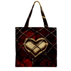 Love Hearth Background Scrapbooking Paper Zipper Grocery Tote Bag