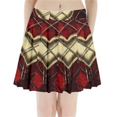 Love Hearth Background Scrapbooking Paper Pleated Mini Skirt