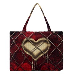Love Hearth Background Scrapbooking Paper Medium Tote Bag