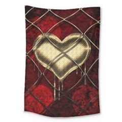 Love Hearth Background Scrapbooking Paper Large Tapestry
