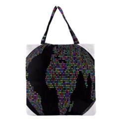World Earth Planet Globe Map Grocery Tote Bag
