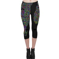 World Earth Planet Globe Map Capri Leggings